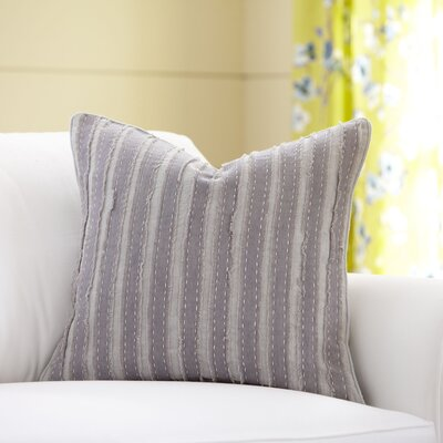 Blanche Linen Pillow Cover Color: Pewter, Size: 18 x 18