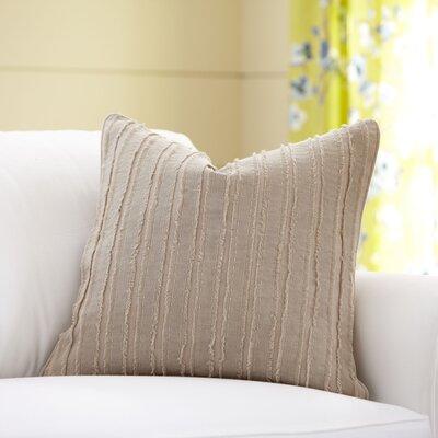 Blanche Linen Pillow Cover Color: Mocha, Size: 18 x 18