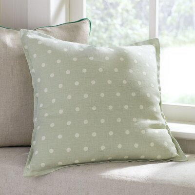 Shiloh Linen Pillow Cover Color: Stone, Size: 18 x 18