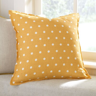 Shiloh Linen Pillow Cover Color: Canary, Size: 18 x 18