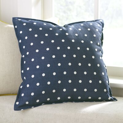 Shiloh Linen Pillow Cover Color: Navy, Size: 20