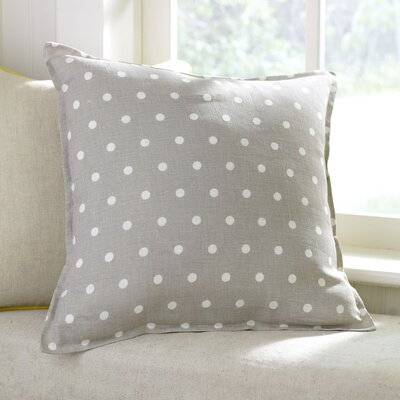 Shiloh Linen Pillow Cover Color: Pewter, Size: 22