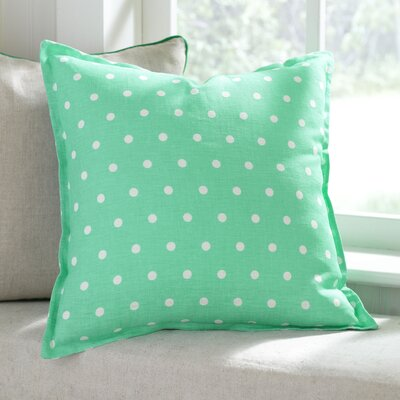 Shiloh Linen Pillow Cover Color: Aqua, Size: 18 x 18
