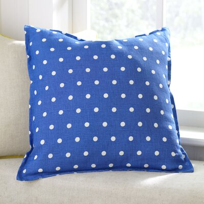 Shiloh Linen Pillow Cover Color: Blue, Size: 18
