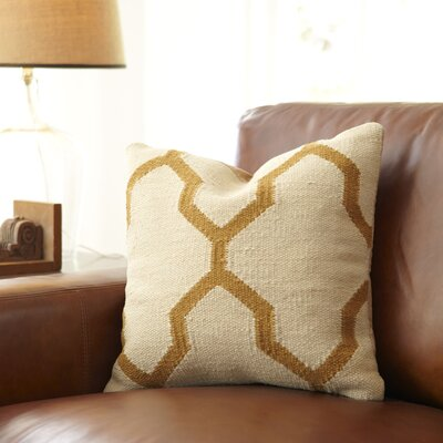 Becca Decorative Pillow Cover Color: Parchment/Mustard
