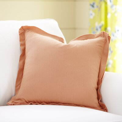 Joelle Pillow Cover Color: Salmon, Size: 22 x 22