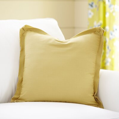 Joelle Pillow Cover Color: Bright Yellow, Size: 22 x 22
