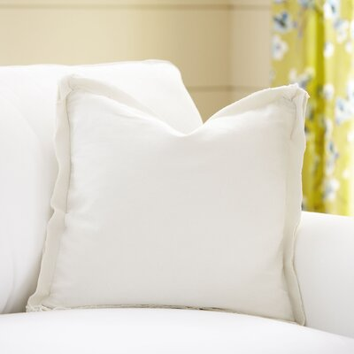 Joelle Pillow Cover Color: Parchment, Size: 18