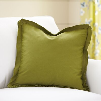 Joelle Pillow Cover Color: Olive, Size: 22 x 22