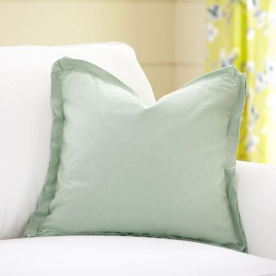 Joelle Pillow Cover Color: Sage, Size: 22 x 22