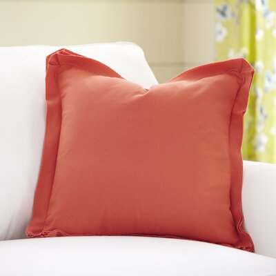 Joelle Pillow Cover Size: 18 x 18, Color: Coral