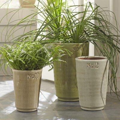 Numeral Ceramic Floor Vases