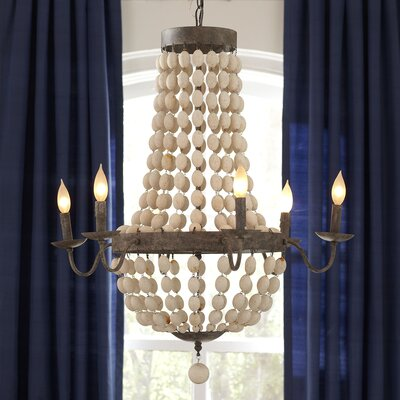 Addington 6 Light Candle-Style Chandelier