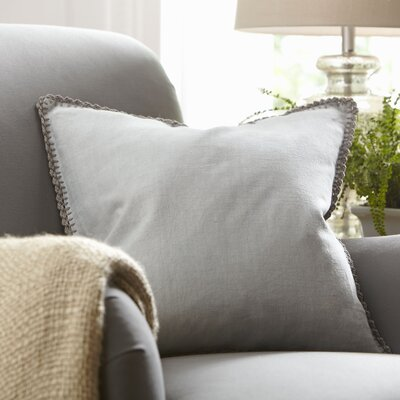 Armelle Linen Pillow Cover Color: Stone, Size: 22 x 22