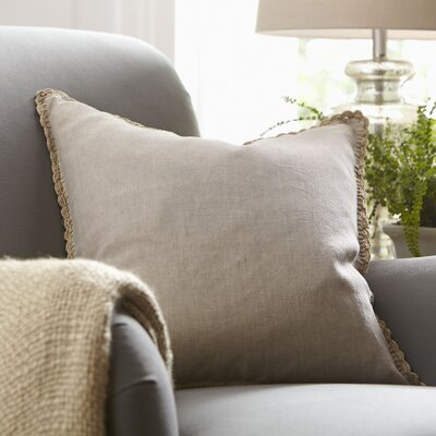 Armelle Linen Pillow Cover Color: Natural, Size: 18 x 18