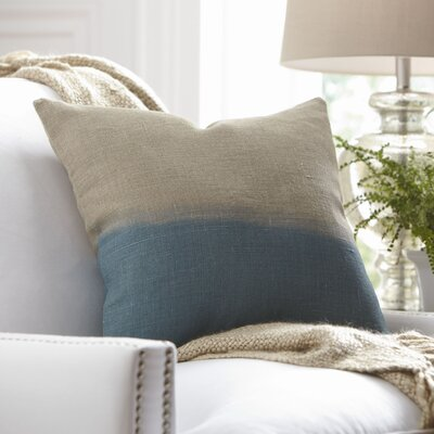 Carson Linen Pillow Cover Color: Blue, Size: 18 x 18