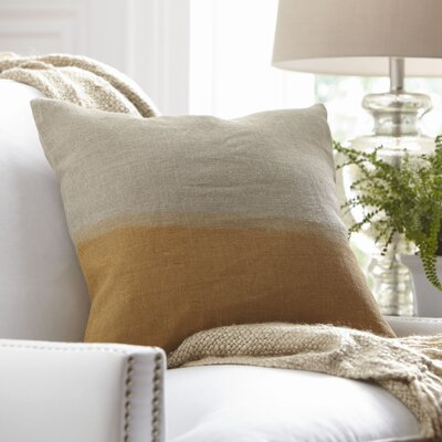Carson Linen Pillow Cover Color: Mustard, Size: 18 x 18