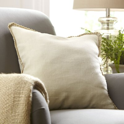 Armelle Linen Pillow Cover Color: Putty, Size: 18 x 18