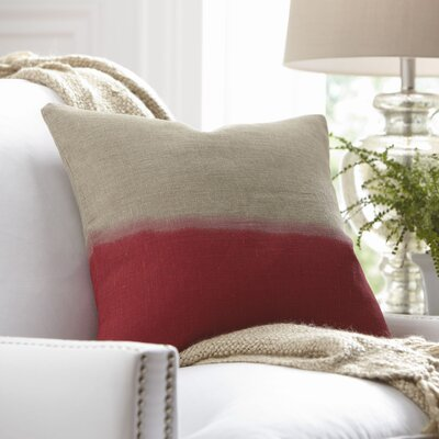 Carson Linen Pillow Cover Color: Red, Size: 18 x 18