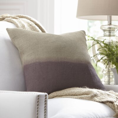 Carson Linen Pillow Cover Size: 18 x 18, Color: Amethyst