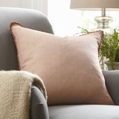 Armelle Linen Pillow Cover Size: 22 x 22, Color: Terra