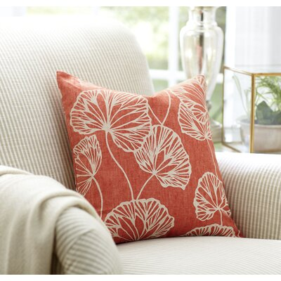 Gwendolyn Pillow Cover Color: Salmon