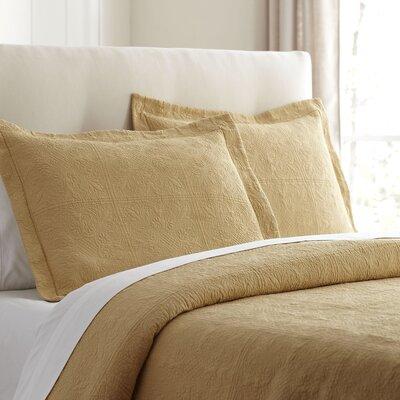 Jolie Matelasse Sham Size: Standard, Color: Butter