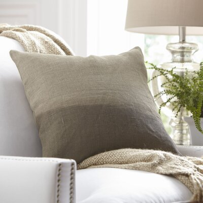 Carson Linen Pillow Cover Size: 20 x 20, Color: Stone