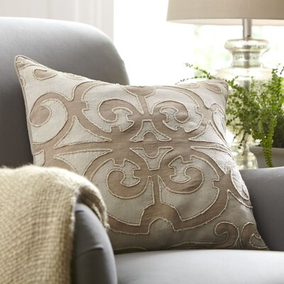 Estelle Linen Pillow Cover Size: 20 x 20, Color: Ivory/Camel