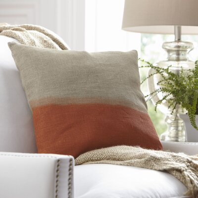 Carson Linen Pillow Cover Size: 20 x 20, Color: Tangerine