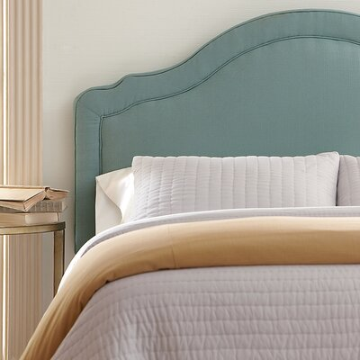 Rumford Upholstered Headboard Size: Queen, Upholstery: Nadia Denim