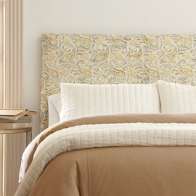 Langley Upholstered Headboard Size: Queen, Upholstery: Classic Bleach White