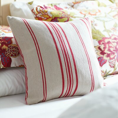 Anita Pillow Cover Size: 18 x 18, Color: Red
