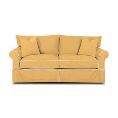 Jameson Sleeper Sofa with Contrast Welt Upholstery: Bayou Sunshine