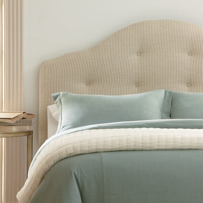 Nolan Upholstered Headboard Upholstery: Classic Bleach White, Size: King