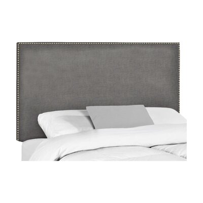 Wyatt Upholstered Headboard Size: Queen, Upholstery: Bailey Charcoal Blended Linen