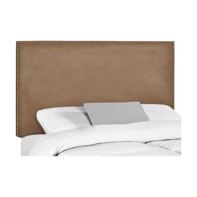 Wyatt Upholstered Headboard Upholstery: Lizzy Hemp, Size: King
