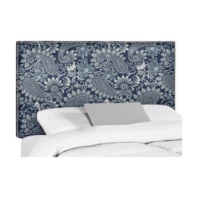 Wyatt Upholstered Headboard Size: Queen, Upholstery: Nadia Denim