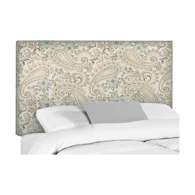 Wyatt Upholstered Headboard Size: King, Upholstery: Wallace Moonstruck Paisley