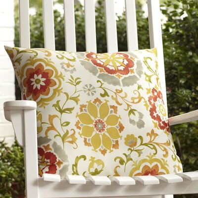 Ruthie Outdoor Pillow Color: Red