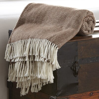 Serena Herringbone Throw Color: Coffee