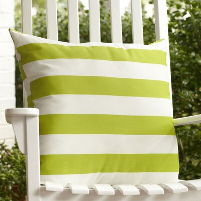 Dion Striped Outdoor Pillow Color: Lime
