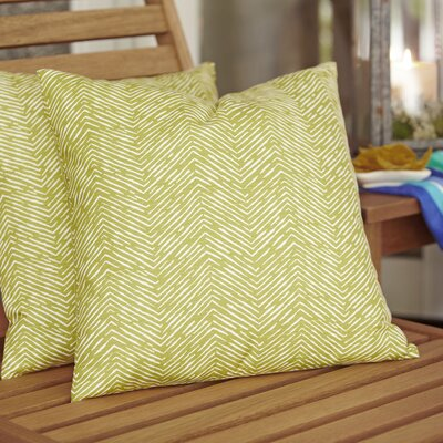 Laura Outdoor Pillow Color: Citron