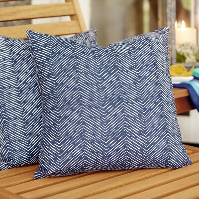 Laura Outdoor Pillow Color: Navy