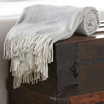 Serena Herringbone Throw Color: Gray