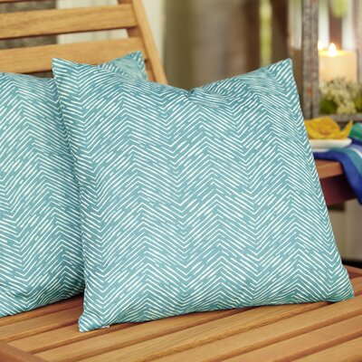 Laura Outdoor Pillow Color: Aqua