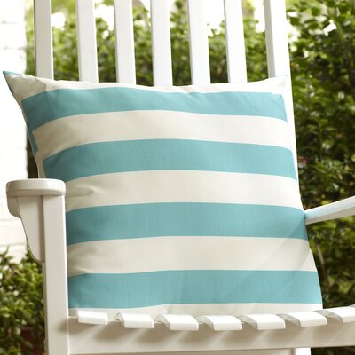 Dion Striped Outdoor Pillow Color: Sky