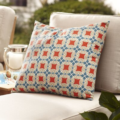 Nyla Outdoor Pillow Color: Red