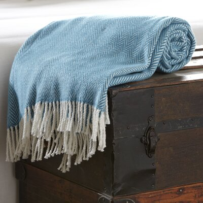 Serena Herringbone Throw Color: Ocean