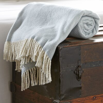 Serena Herringbone Throw Color: Sky